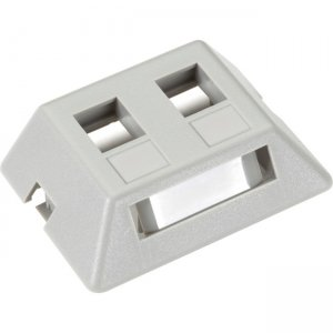 Black Box GigaStation2 Modular Furniture Wallplate - 2-Port, Gray WPT461-MF