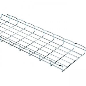 "Black Box Basket Tray Section - 2""H x 10'L x 12""W, Steel, 3-Pack RM784-3PK"