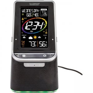 La Crosse Technology Wireless Weather Station with Bluetooth Speaker and Atomic Time and Date S87078