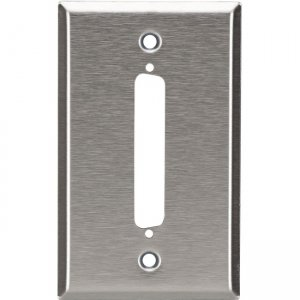 Black Box Wallplate - Stainless Steel, DB37, Single-Gang, 1-Port WP090