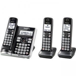 Panasonic Link2Cell Bluetooth Cordless Phone with Answering Machine - 3 Handsets KX-TGF573S