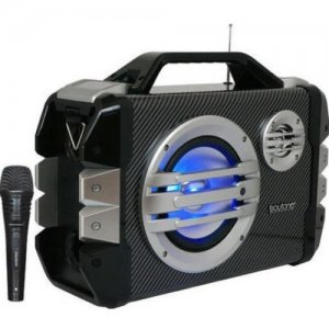 boytone 51-Series Portable Audio Karaoke Bluetooth Speaker System with Microphone BT-51M