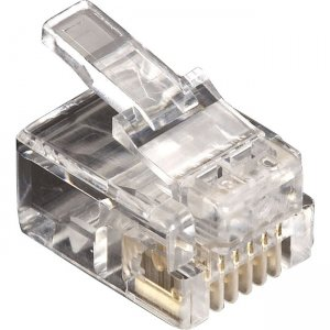 Black Box RJ11 Unshielded Modular Plug 6 Wire 10 Pack FMTP611-10PAK