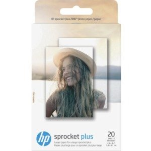 HP Sprocket Plus Photo Paper-20 Sticky-Backed Sheets/2.3 x 3.4 in 2FR23A