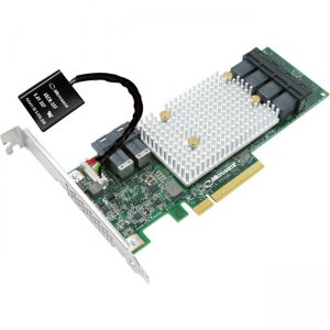 Microsemi SmartRAID Adapter with Integrated Flash Backup 2295100-R 3154-8i8e