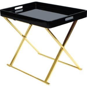 urb SPACE Manhatten Folding Accent Table - Black/ Gold 82008006