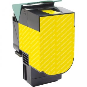 V7 Yellow Toner Cartridge for select Lexmark printers - Replaces 70C1HY0 V770C1HY0