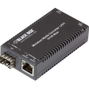 Black Box MultiPower Miniature Media Converter Fast Ethernet SFP LHC301A-R3