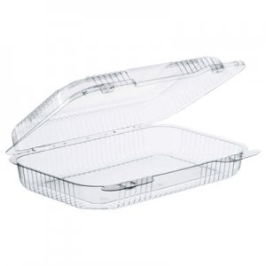 Dart StayLock Clear Hinged Lid Containers, 9.4 x 6.8 x 2.1, Clear, 250/Carton DCCC30UT1 C30UT1