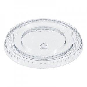 Dart Non-Vented Cup Lids, Fits 12 oz Cups, Clear, 2500/Carton DCC640TP 640TP