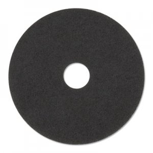 "3M Stripper Floor Pads 7200, 14"" Diameter, Black, 5/Carton MMM08376 7200"