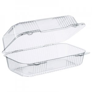 Dart StayLock Clear Hinged Lid Containers, 5.4 x 9 x 3.5, Clear, 250/Carton DCCC35UT1 C35UT1