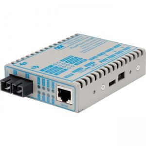 Omnitron Systems 10/100 RJ-45 to Fast Ethernet Fiber Media Converter 4341-9