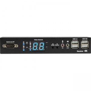 Black Box MediaCento IPX 4K Receiver - HDMI, USB, Serial, IR, Audio VX-HDMI-4KIP-RX