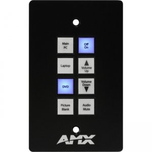 AMX 8-Button KeyPad (US) With AxLink FG1311-08-SB SP-08-AX-US