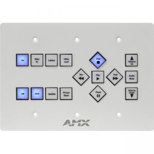 AMX 16-Button KeyPad (US) With AxLink FG1311-16-SW SP-16-AX-TR-US