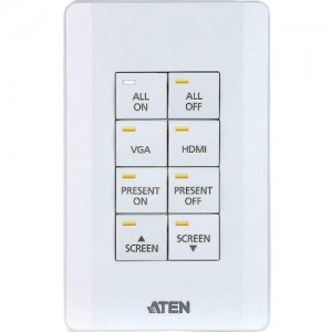 Aten Control System - 8-button Keypad (US, 1 Gang) VK108US