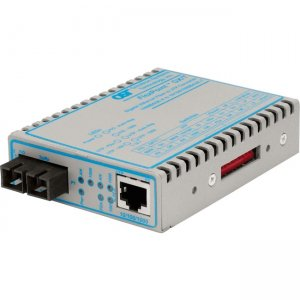 Omnitron Systems FlexPoint GX/T 10/100/1000 Copper to 100/1000X Fiber Ethernet Media Converter 4701-1W