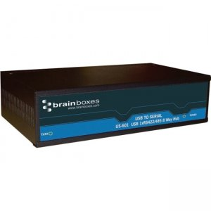 Brainboxes 8 Port RS422/485 USB to Serial Multi Drop Hub US-601