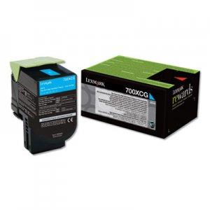 Lexmark 700XCG, Extra High-Yield, Toner, 4000 Page-Yield, Cyan LEX70C0XCG 70C0XCG