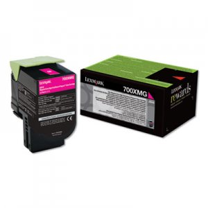 Lexmark 700XMG, Extra High-Yield, Toner, 4000 Page-Yield, Magenta LEX70C0XMG 70C0XMG