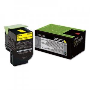 Lexmark 700XYG, Extra High-Yield, Toner, 4000 Page-Yield, Yellow LEX70C0XYG 70C0XYG