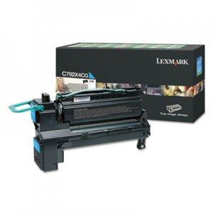 Lexmark C792, Extra High-Yield, Toner, 17000 Page-Yield, Cyan LEXC792X4CG C792X4CG