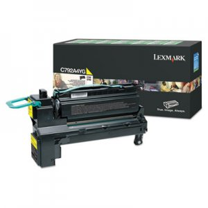 Lexmark C792, Standard-Yield, Toner, 17000 Page-Yield, Yellow LEXC792A4YG C792A4YG