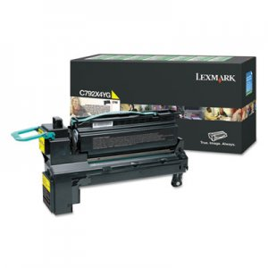 Lexmark C792, Extra High-Yield, Toner, 17000 Page-Yield, Yellow LEXC792X4YG C792X4YG