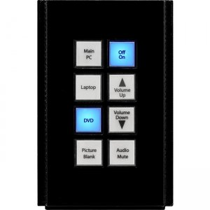 AMX Novara 8-Button Keypad with AxLink (US) Module FG554-51-BL HPX-U400-SP-08-AX
