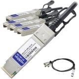 Axiom 100GBASE-CR4 QSFP to 4 x 25GbE SFP Twinax Copper Cable, 1 meter CAB-Q-4S-100G-1M-AX