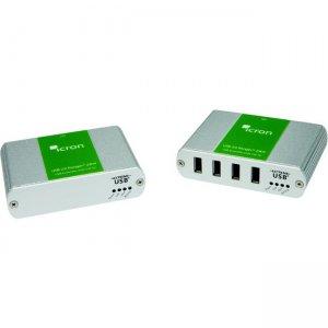 B+B SmartWorx 4-port USB 3.0-2.0-1.1 Extender, 100m, Cat5e/6/7, 100-240V NATAM