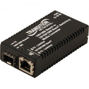 Transition Networks Mini Gigabit Ethernet Media Converter M/GE-PSW-SFP-01-NA M/GE-PSW-SFP-01