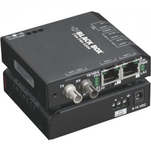 Black Box Industrial 10/100 Ethernet Switch - Hardened Temperature, 3-Port LBH100A-H-SSC-24