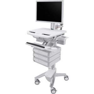 Ergotron StyleView Cart with HD Pivot, 3 Drawers (1x3) SV43-2530-0