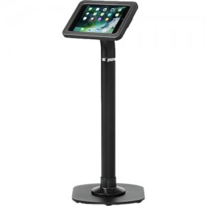 ArmorActive Pipeline Kiosk 24 in with Echo for iPad Mini 4 in Black with Baseplate 800-00001_00036