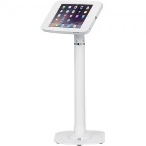 ArmorActive Pipeline Kiosk 24 in with FMJ for iPad 9.7 in White with Baseplate 800-00001_00032