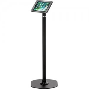 ArmorActive Pipeline Kiosk 42 in with Elite for iPad 9.7 in Black with Baseplate 800-00001_00128