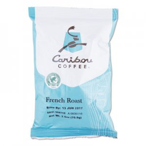 Caribou Coffee French Roast Ground Coffee, 2.5 oz, 18/Carton CCF008712 008712