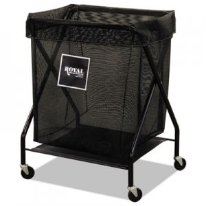 Royal Basket Trucks 8 Bushel X-Frame Cart with Mesh Bag, 21 x 26 x 36, 150 lbs. Capacity, Black