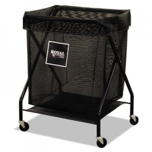 Royal Basket Trucks 6 Bushel X-Frame Cart with Mesh Bag, 20 x 26 x 36, 150 lbs. Capacity, Black