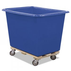 Royal Basket Trucks 6 Bushel Poly Truck with Hardwood Base, 24 x 34 x 27, 800 lbs. Capacity, Blue RBTL6BLXPTA4UNN