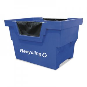 Royal Basket Trucks Mail Truck, Recycle, 31 3/4 x 48 x 37, 1000 lbs. Capacity, Blue RBTL23BLXRMC4UN L23-BLX