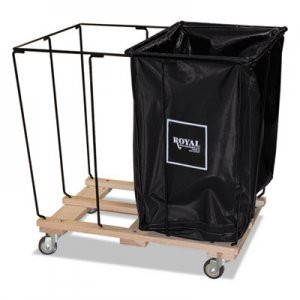 Royal Basket Trucks Drop In Dividers, 2 Compartments, 20 Bushel, Vinyl/Steel, Black RBTL20KKXR2N L20-KKX-R2N