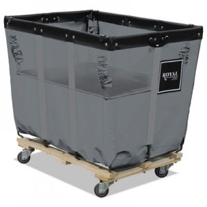 Royal Basket Trucks Spring Lift, 28 x 44, 20 Bushel, Vinyl/Steel, Gray RBTL20GGXSLN L20-GGX-SLN