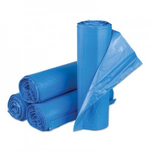 Inteplast Group Interleaved High-Density Can Liners, 30 x 43, 33 gal, 14mic, Blue, 250/CT IBSBRS304314BL BRS304314BL