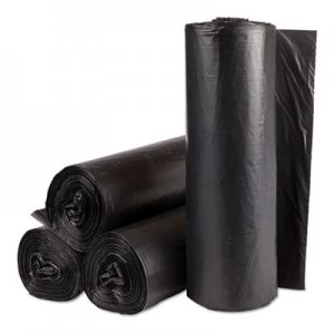 Inteplast Group Institutional Low-Density Can Liners, 30gal, .58mil, 30x36, Black, 25/RL,10RL/CT IBSSL3036HVK WSL3036HVK