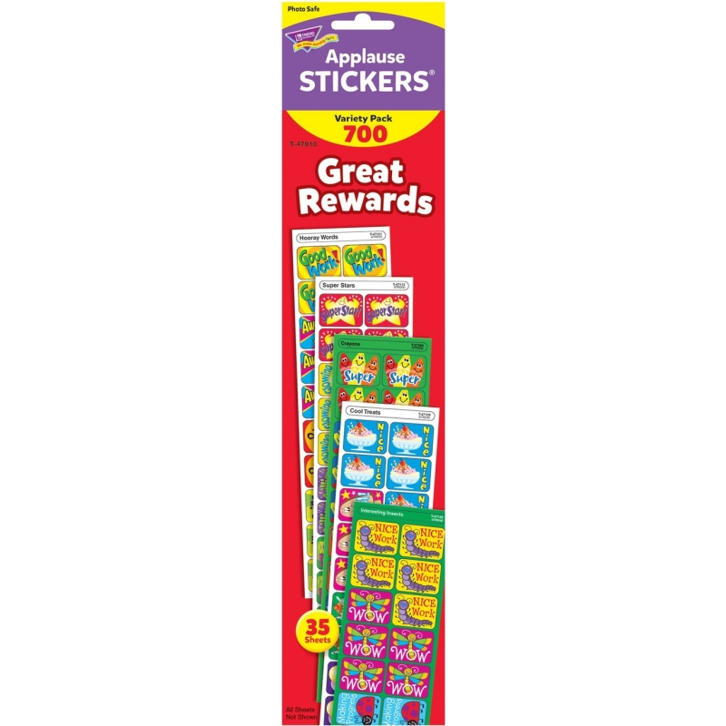 TREND Great Rewards Applause Stickers Variety Pack T47910 TEPT47910