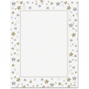 Geographics Stars/Swirls Design Laser/Inkjet Paper 47103 GEO47103