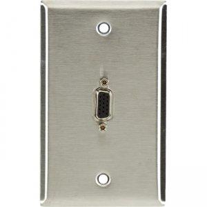 Black Box AV Wallplate - Stainless Steel, (1) VGA Female to Female WPVGA03-R2